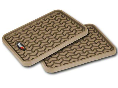 Rugged Ridge Rear Floor Liners - Tan (07-18 Silverado 1500 Extended/Double Cab, Crew Cab)