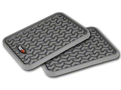 Rugged Ridge Rear Floor Liners - Gray (07-18 Silverado 1500 Extended/Double Cab, Crew Cab)