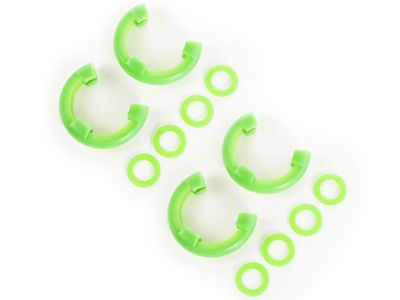 Rugged Ridge 3/4 in. Green D-Ring Isolators - Set of Four