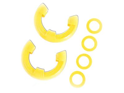 Rugged Ridge 7/8 in. Yellow D-Shackle Isolators - Pair