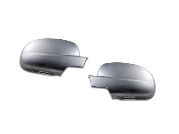 Putco Chrome Tape-On Mirror Covers w/ Courtesy Light Cutout (07-13 Silverado 1500 w/ Standard Mirrors)
