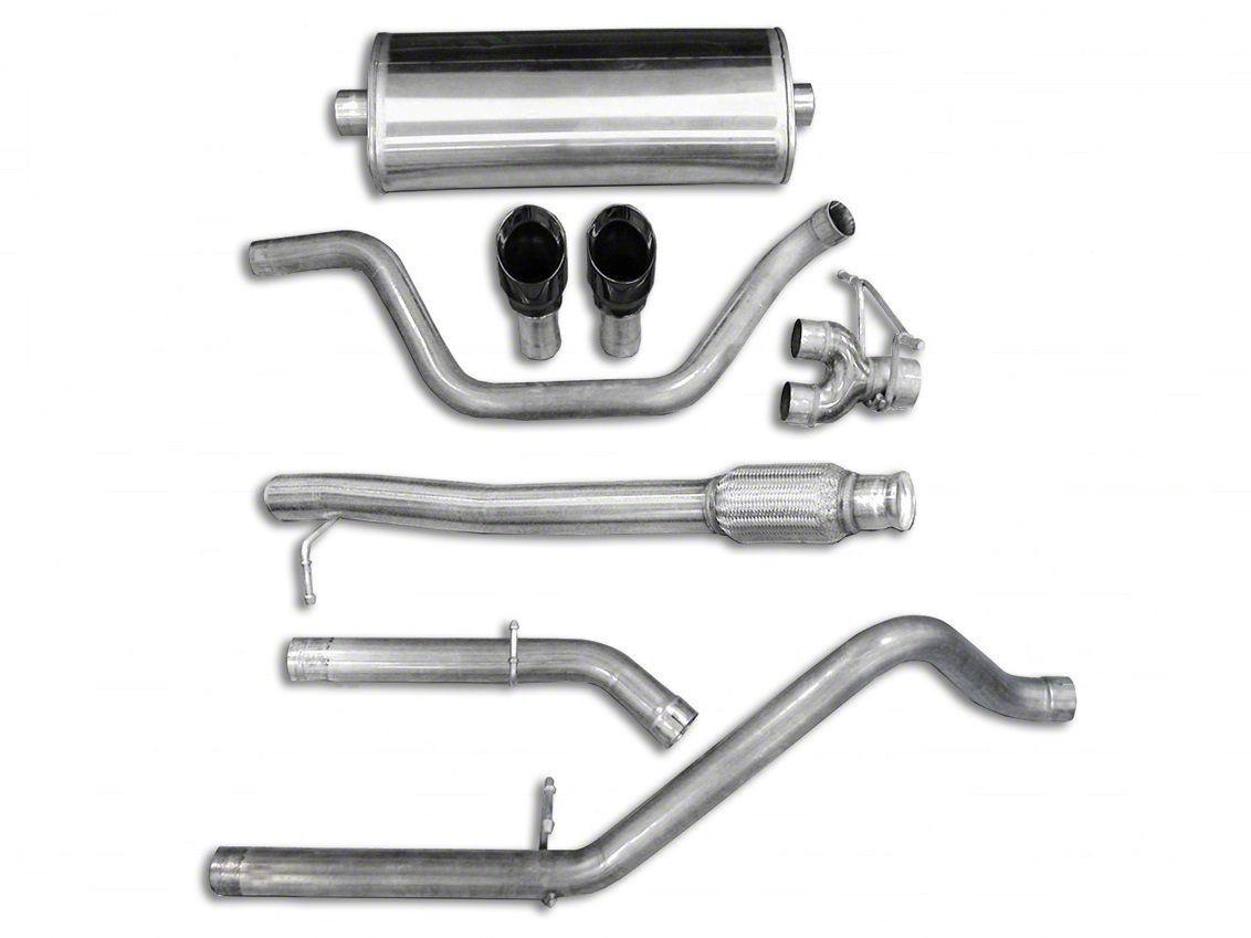 Corsa 3 in. Sport Dual Exhaust System w/ Black Tips - Rear Exit (10-13 6.0L Hybrid Silverado 1500)
