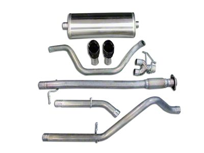 Corsa 3 in. Sport Dual Exhaust System w/ Black Tips - Rear Exit (07-09 6.0L Silverado 1500, Excluding Hybrid)