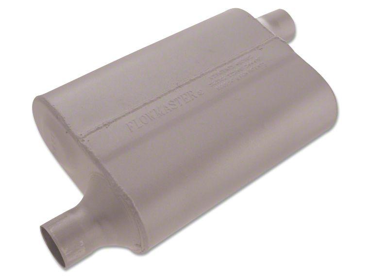 Flowmaster 40 Series Delta Flow Offset/Offset Oval Muffler - 2.0 in. (Universal Fitment)