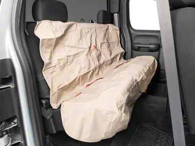 Kurgo Rear Bench Seat Cover - Heather - Nutmeg (07-18 Silverado 1500 Extended/Double Cab, Crew Cab)