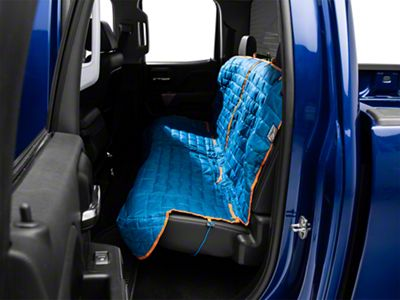 Kurgo Loft Rear Bench Seat Cover - Coastal Blue/Charcoal (07-18 Silverado 1500 Extended/Double Cab, Crew Cab)
