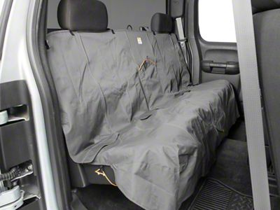 Extended Width Wander Rear Bench Seat Cover - Charcoal - 63 in. wide (07-18 Silverado 1500 Extended/Double Cab, Crew Cab)
