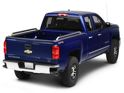 Raptor Series 1.9 in. Tubular Bed Rails - Polished Stainless (14-18 Silverado 1500 w/ Short & Standard Box)