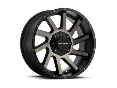 Raceline Twist Black Machined w/ Dark Tint 6-Lug Wheel - 20x12 (99-18 Silverado 1500)