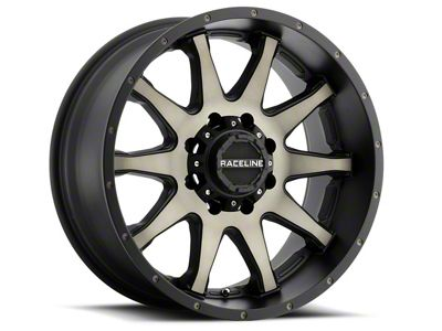 Raceline Shift Black Machined w/ Dark Tint 6-Lug Wheel - 17x9 (99-18 Silverado 1500)