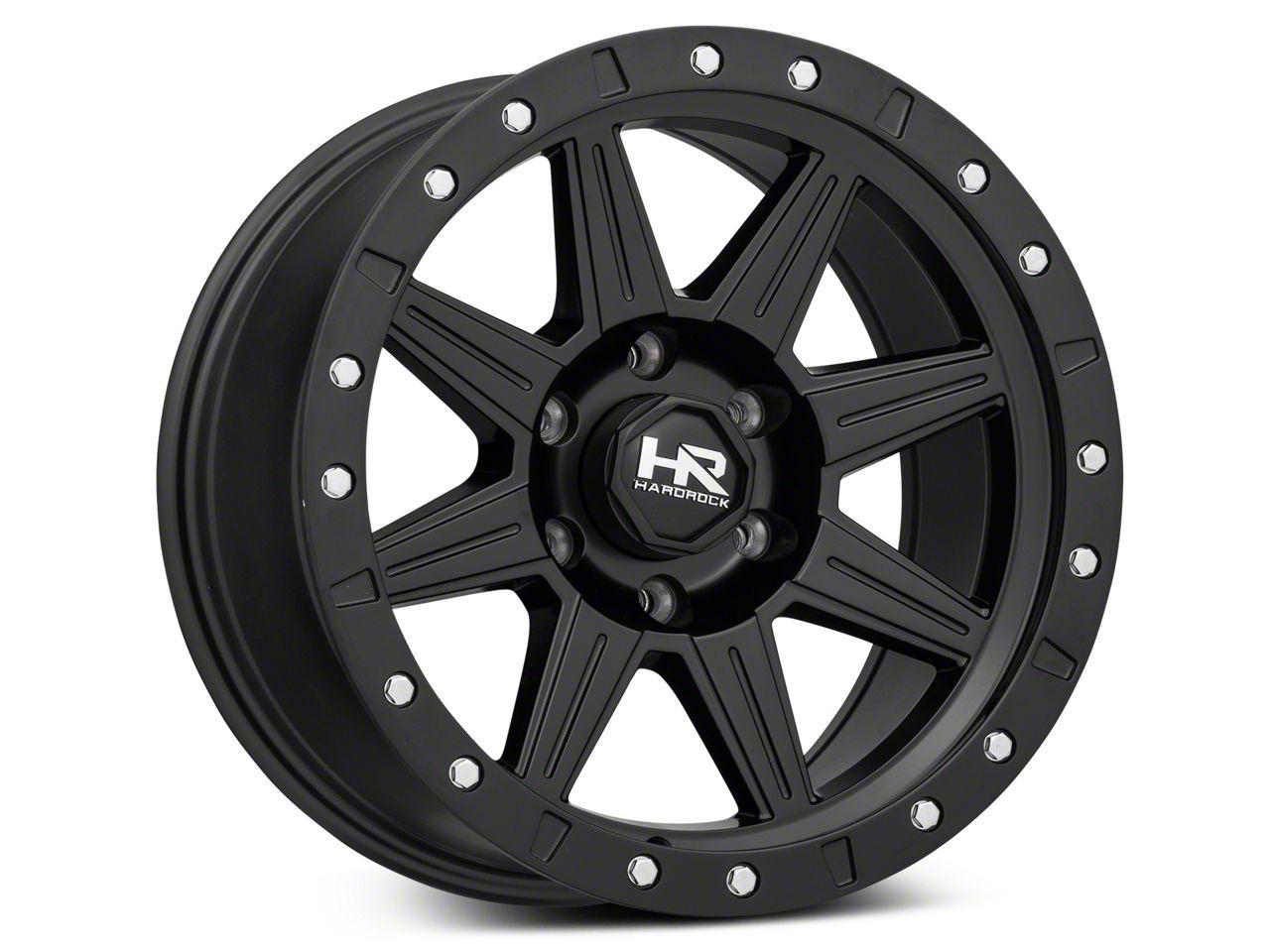 Hardrock Offroad H100 Matte Black 6-Lug Wheel - 17x8.5 (99-18 Silverado 1500)