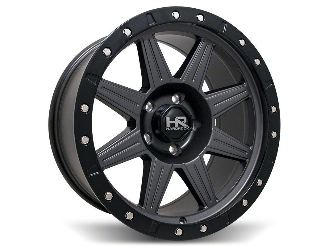 Hardrock Offroad H100 Matte Gunmetal 6-Lug Wheel - 20x9 (99-18 Silverado 1500)