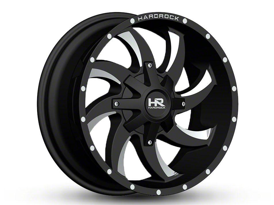 Hardrock Offroad H701 DEVIOUS Black Milled 6-Lug Wheel - 20x9 (99-18 Silverado 1500)