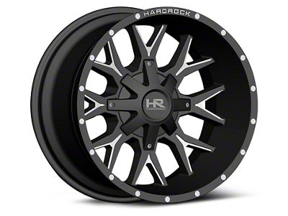 Hardrock Offroad H700 AFFLICTION Black Milled 6-Lug Wheel - 20x12 (99-18 Silverado 1500)