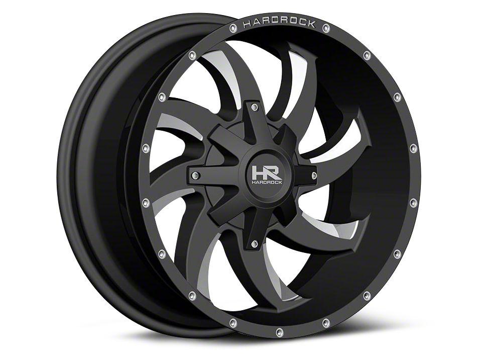 Hardrock Offroad H700 AFFLICTION Black Milled 6-Lug Wheel - 20x10 (99-18 Silverado 1500)