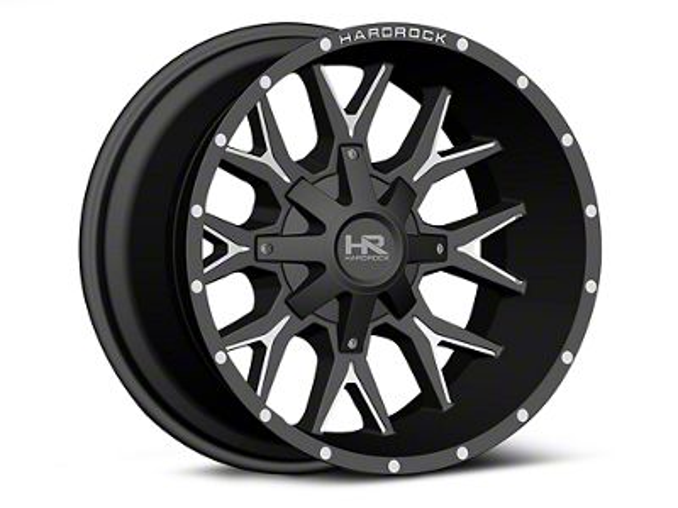 Hardrock Offroad H700 AFFLICTION Black Milled 6-Lug Wheel - 22x10 (99-18 Silverado 1500)