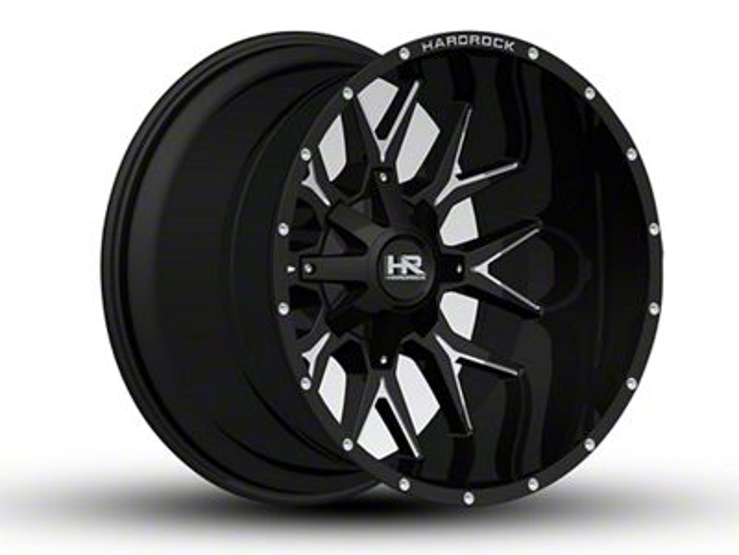 Hardrock Offroad H700 AFFLICTION Black Milled 6-Lug Wheel - 22x14 (99-18 Silverado 1500)
