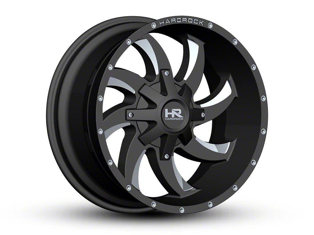 Hardrock Offroad H701 DEVIOUS Black Milled 6-Lug Wheel - 22x10 (99-18 Silverado 1500)