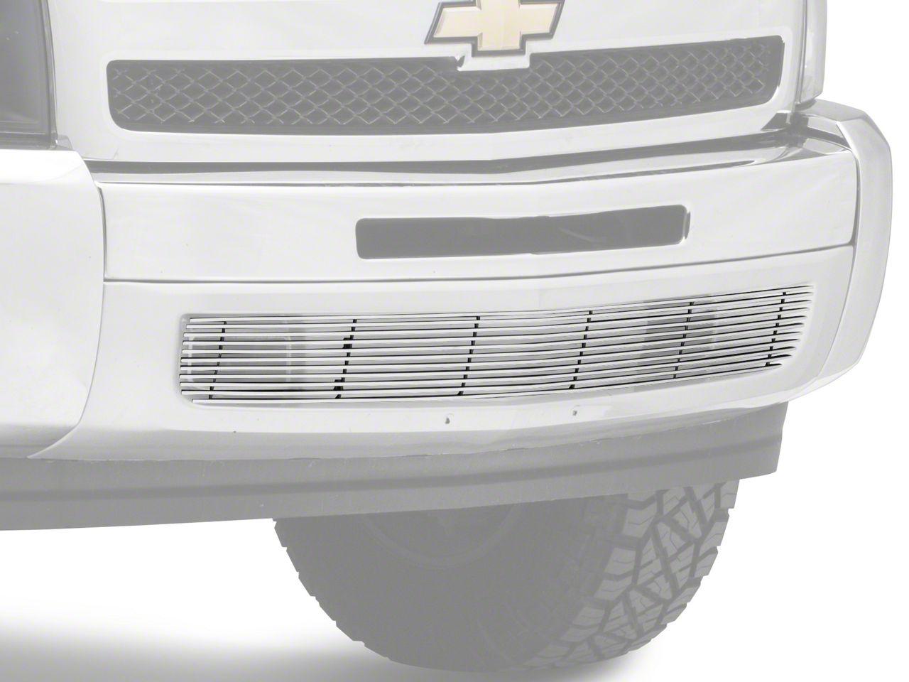 Modern Billet Lower Bumper Grille Insert - Full Length Polished (07-13 Silverado 1500)