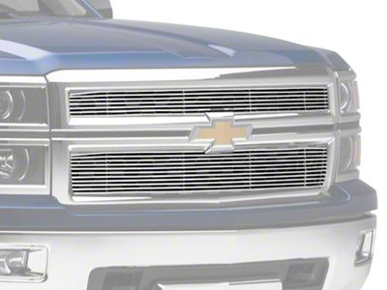 Modern Billet Upper Overlay Grille - Polished (14-15 Silverado 1500)
