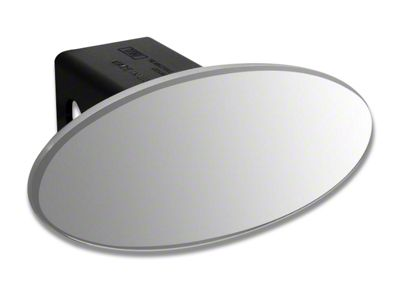 Defenderworx 3.5 in. Oval Hitch Cover - Polished (99-18 Silverado 1500)