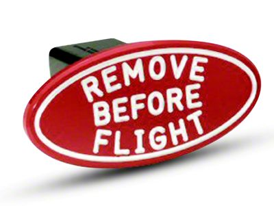 Defenderworx Oval Remove Before Flight Hitch Cover (99-18 Silverado 1500)