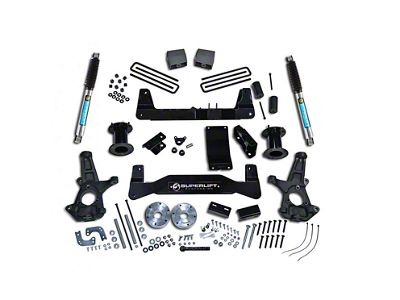 SuperLift 6.5 in. Suspension Lift Kit w/ Bilstein Shocks (14-18 4WD Silverado 1500)