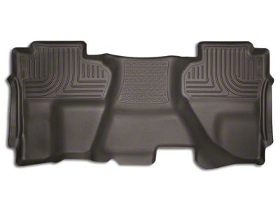 Husky X-Act Contour 2nd Seat Floor Liner - Full Coverage - Cocoa (14-18 Silverado 1500 Double Cab, Crew Cab)