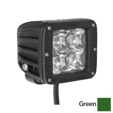 Rigid Industries D-Series Green LED Cube Lights - Flood Beam - Pair