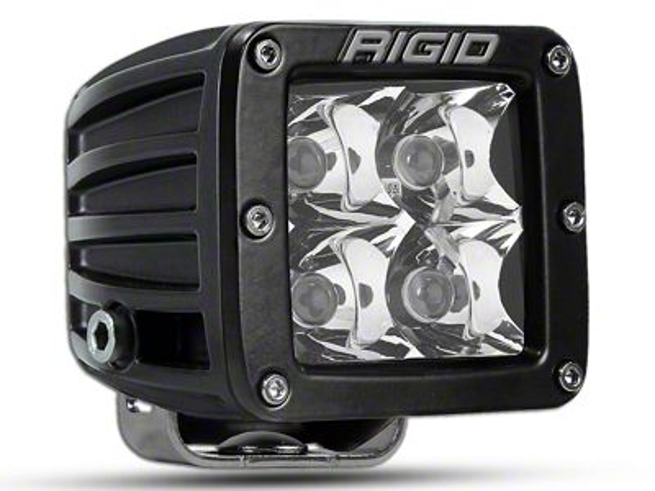 Rigid Industries D-Series HD Amber LED Cube Light w/ Yellow Surround - Spot Beam