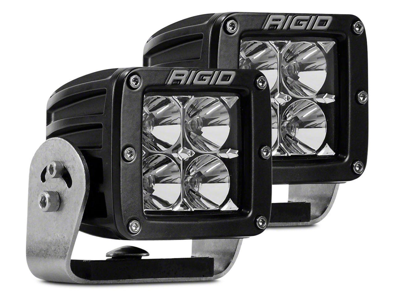 Rigid Industries D-Series HD LED Cube Lights - Flood Beam - Pair