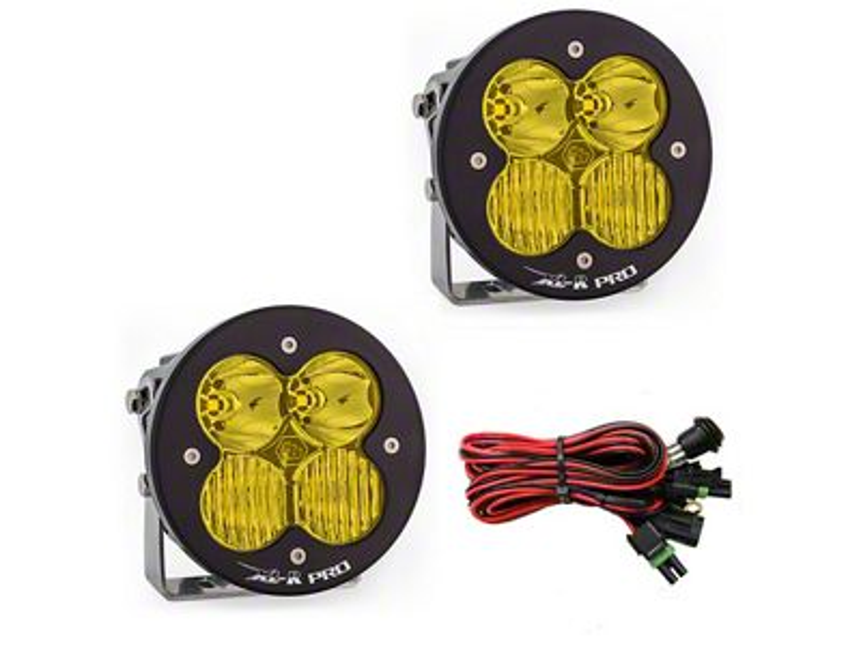 Baja Designs XL-R Amber Pro LED Lights - Driving/Combo Beam - Pair