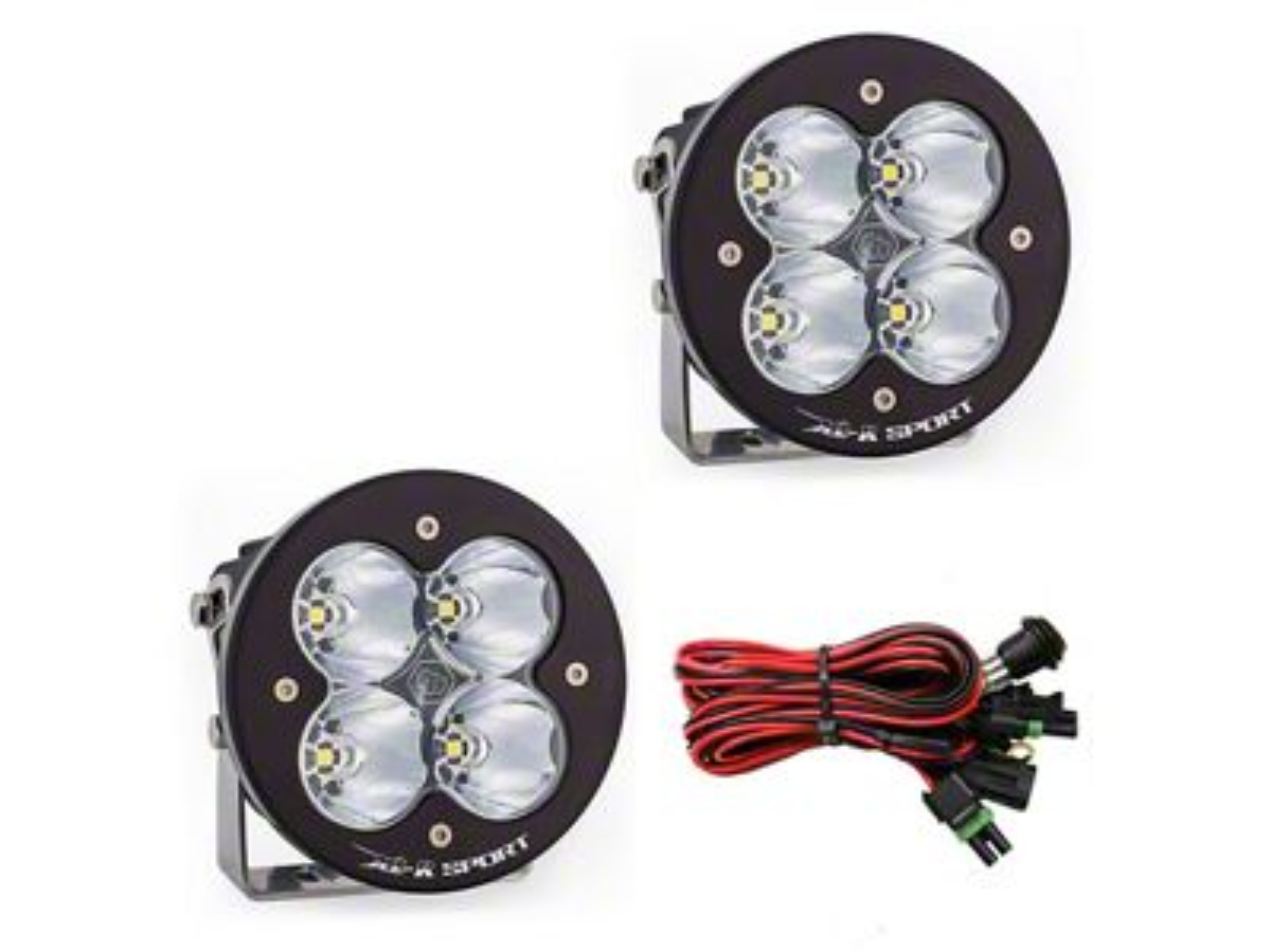 Baja Designs XL-R Sport LED Lights - High Speed Spot Beam - Pair