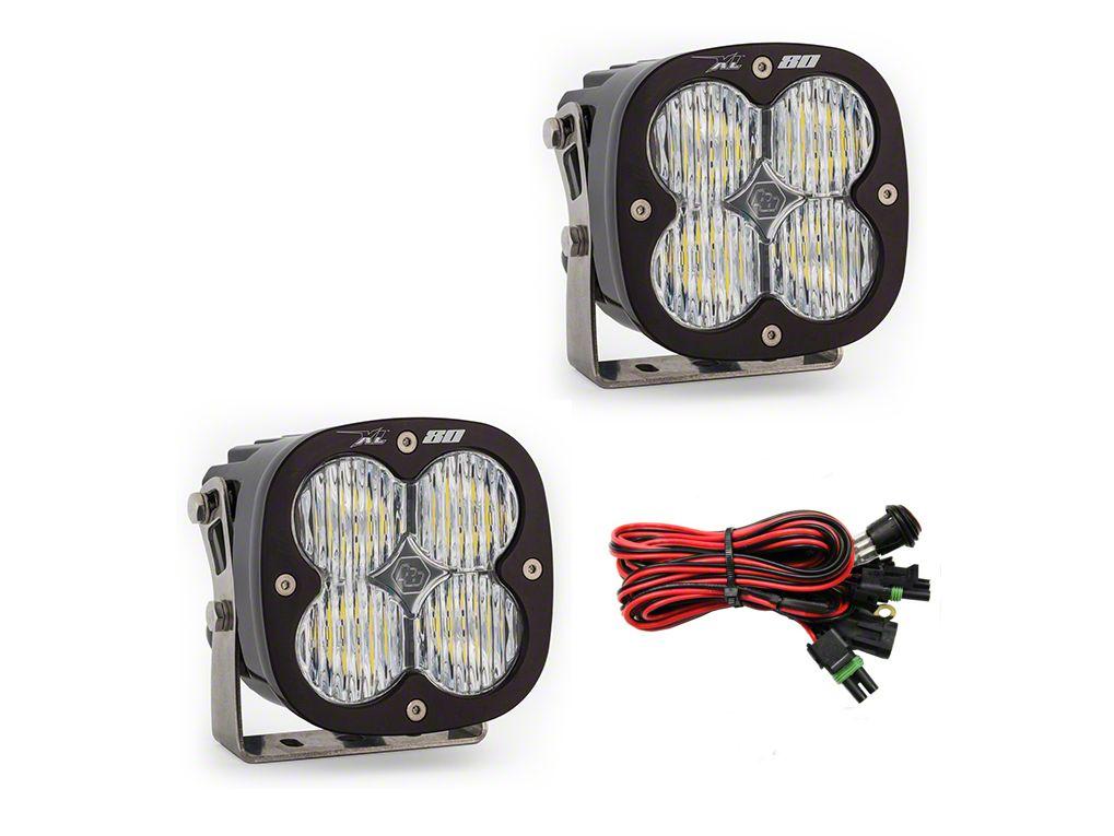 Baja Designs XL80 LED Lights - Wide Cornering Beam - Pair