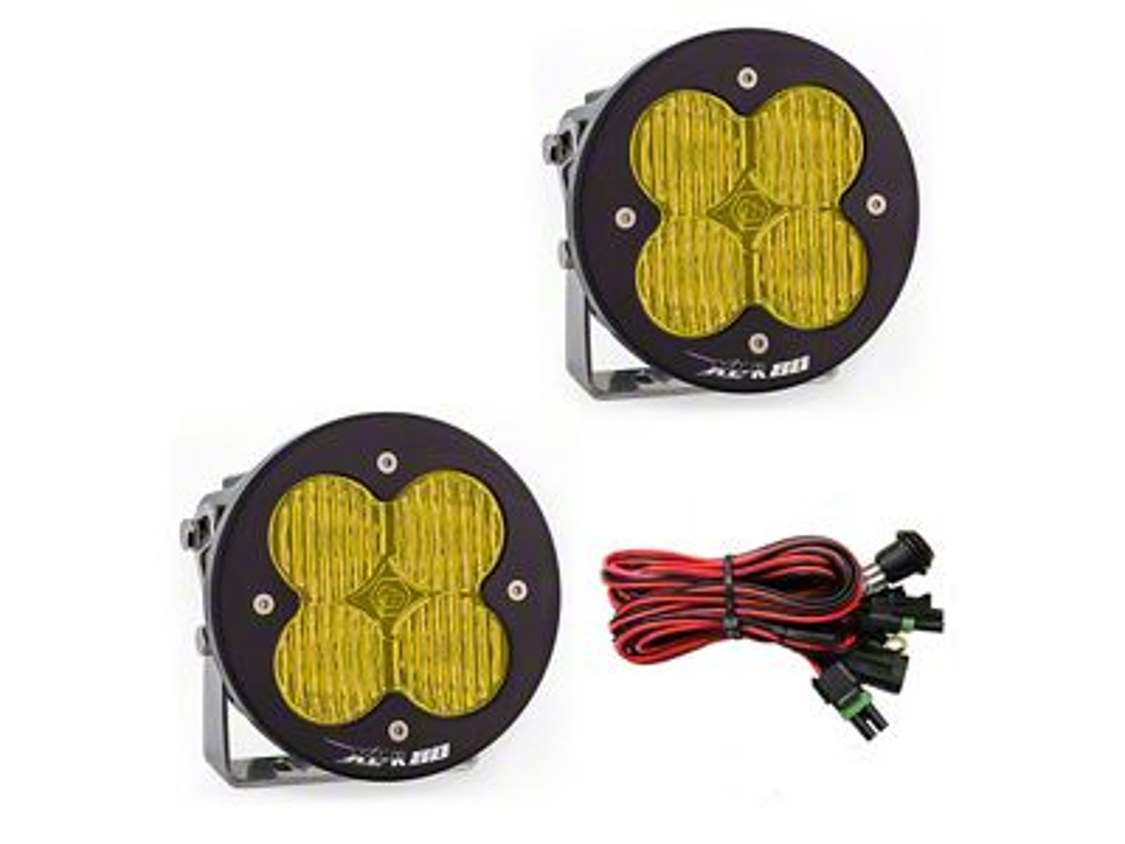 Baja Designs XL-R 80 Amber LED Lights - Wide Cornering Beam - Pair