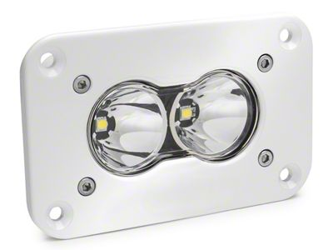 Baja Designs S2 Pro White Flush Mount LED Light - Spot Beam