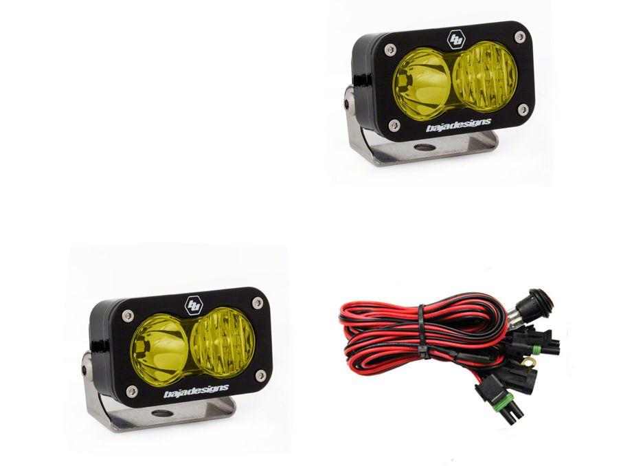 Baja Designs S2 Pro Amber LED Light - Driving/Combo Beam - Pair
