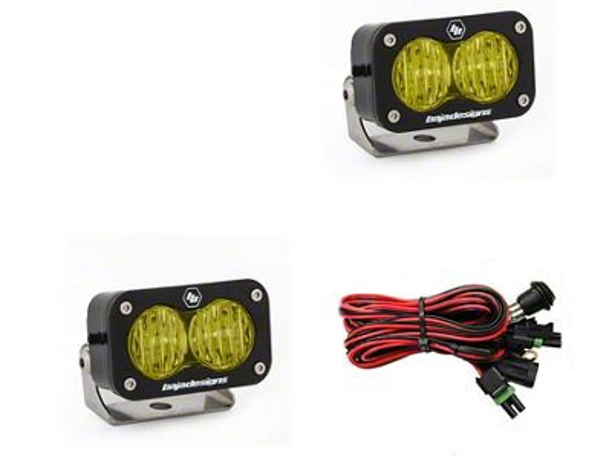 Baja Designs S2 Pro Amber LED Light - Wide Cornering Beam - Pair