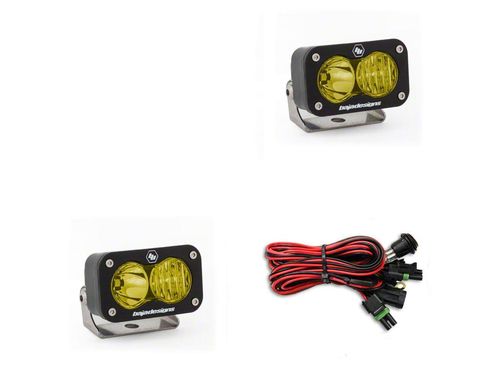 Baja Designs S2 Sport Amber LED Light - Driving/Combo Beam -Pair