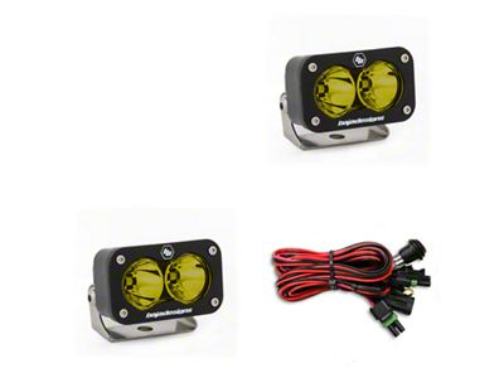 Baja Designs S2 Sport Amber LED Light - Flood/Work Beam - Pair
