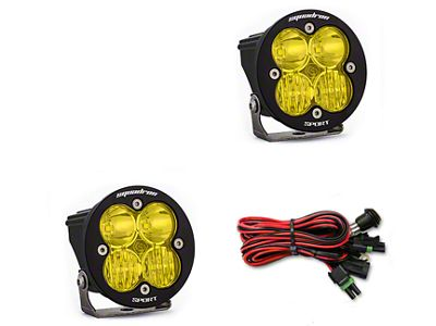 Baja Designs Squadron-R Sport Amber LED Light - Driving/Combo Beam - Pair