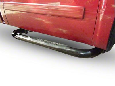 Black Horse Off Road 3 in. Round Side Step Bars - Stainless Steel (07-13 Silverado 1500)