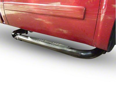 Black Horse Off Road 3 in. Round Side Step Bars - Stainless Steel (14-18 Silverado 1500)