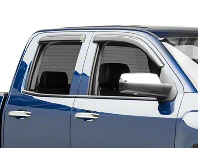 Black Horse Off Road Tape-On Smoke Rain Guards - Front & Rear (14-18 Silverado 1500 Double Cab, Crew Cab)