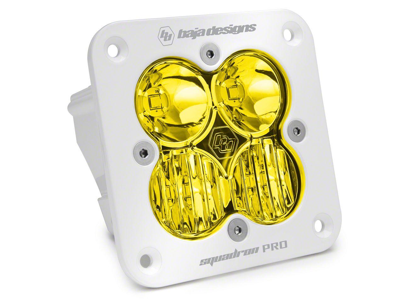 Baja Designs Squadron Pro Flush Mount White Amber LED Light - Driving Beam