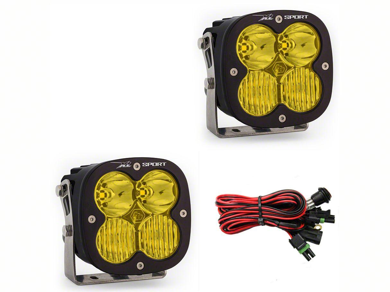 Baja Designs XL Sport Amber LED Light - Driving/Combo Beam - Pair