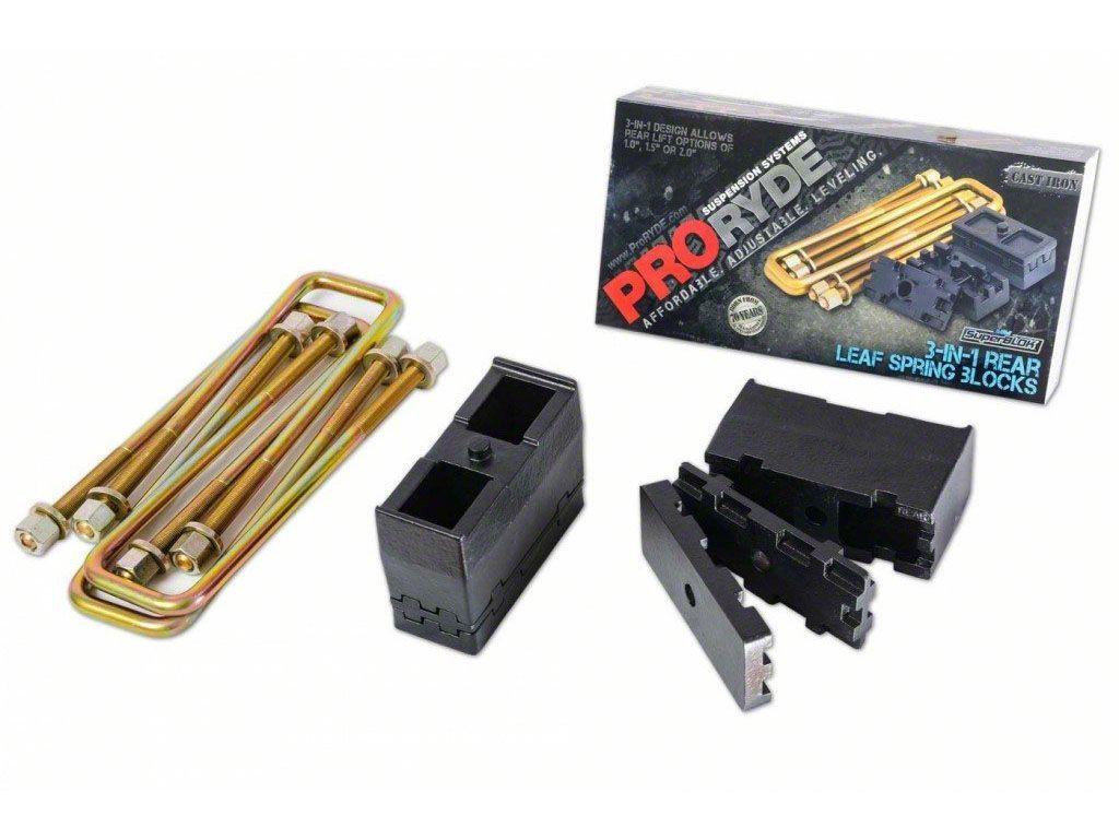 ProRYDE 3-in-1 Adjustable Rear Lift Block Kit (07-18 Silverado 1500)