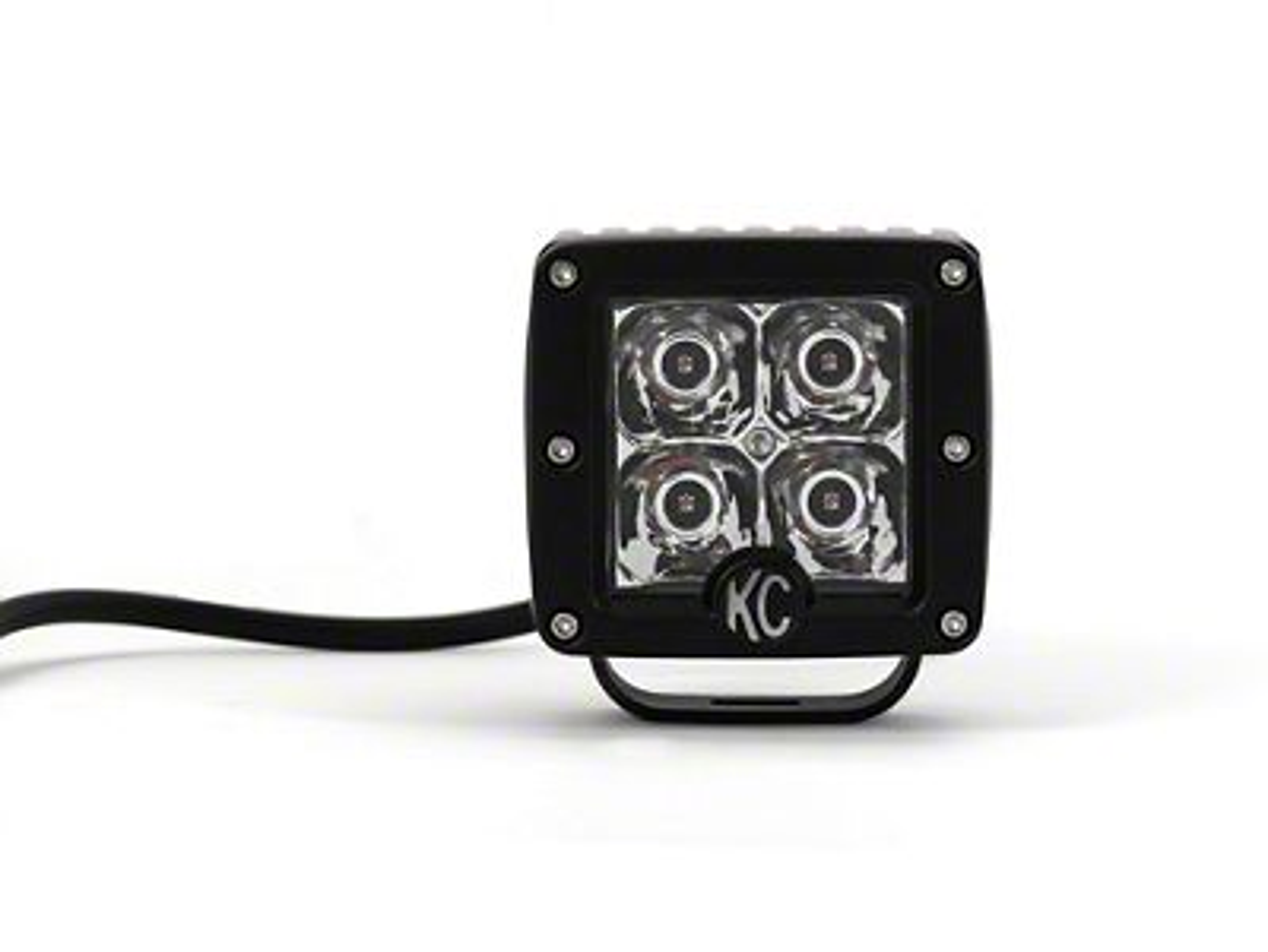 KC HiLiTES 3 in. C-Series C3 Amber LED Cube Light - Spot Beam