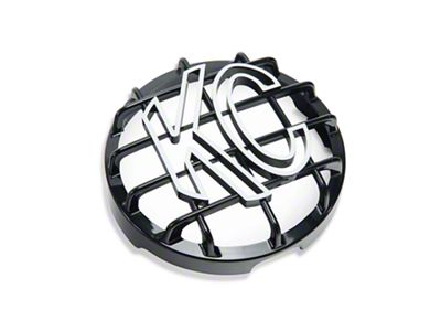 KC HiLiTES 6 in. Round Stone Guard for Daylighter & Slimlite - Black w/ White KC Logo (07-18 Silverado 1500)