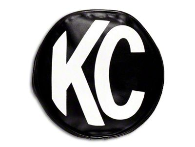 KC HiLiTES 8 in. Soft Vinyl Cover for Round Lights - Black (07-18 Silverado 1500)